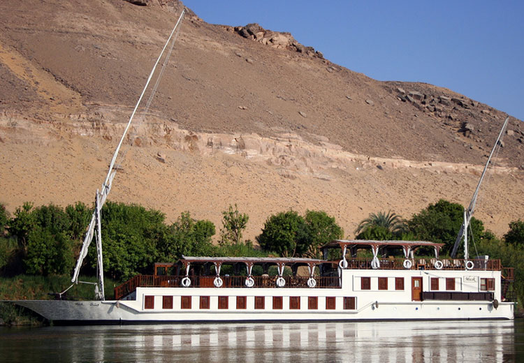 Amber Dahabiya Boat The Temple of Medinet Habu