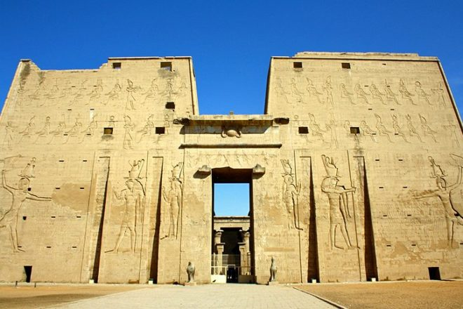 Temple of Horus in Edfu The Temple of Horus in Edfu