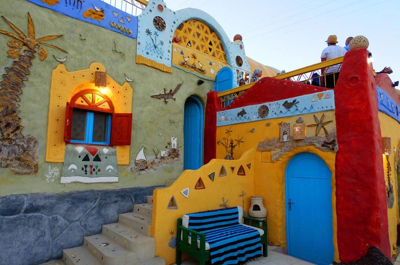 Nubian Village by Felucca Nubian Village by Felucca