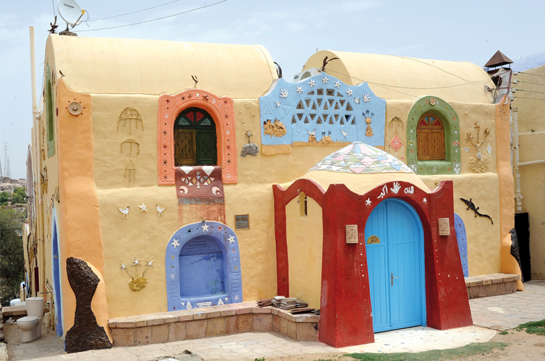 Nubian Village by Felucca Nubian Village by Felucca